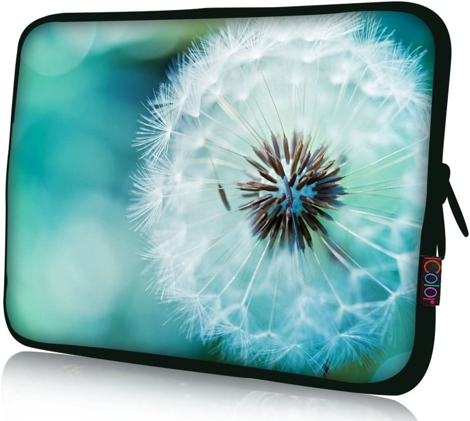 iColor 11 11.6 12.1-inch Laptop-Case Bag - Notebook Chromebook Case Ultrabook Bag Sleeve Computer Protective Cover Carrier Pouch-Dandelion