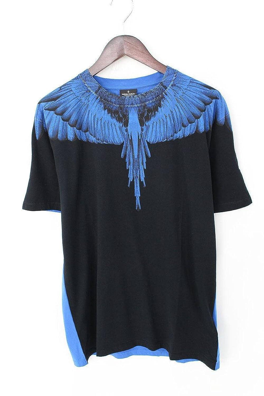 (マルセロバーロン) MARCELO BURLON 【18SS】DOUBLEWINGバイカラープリントTシャツ(L/ブラック×ブルー) B07FFTH5MP  -