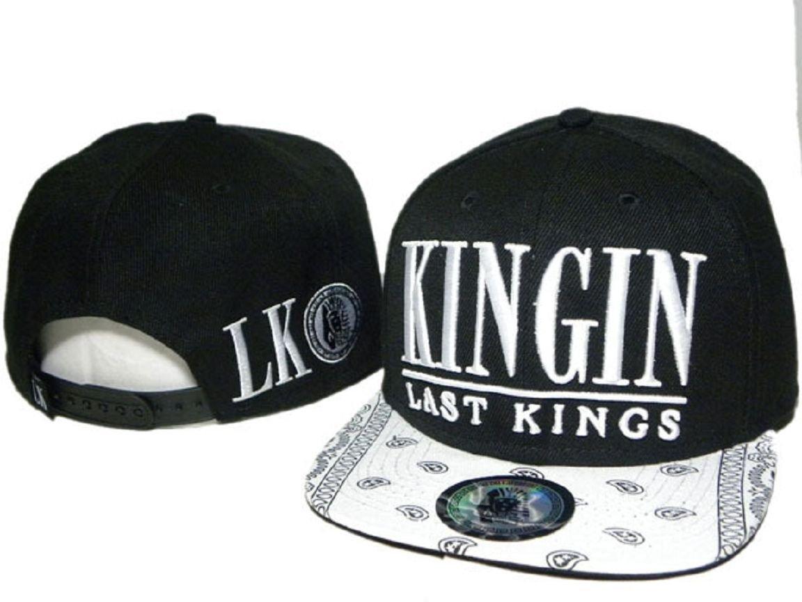 LK piel Last Kings sombrero (black. white Logo con blanco ala ...