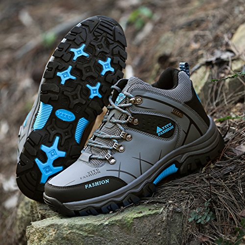 Eagsouni Men's Women's Hiking Trekking Boot Outdoor Sports Waterproof Winter Warm Climbing Shoes Grey - High Top GTWcnDA