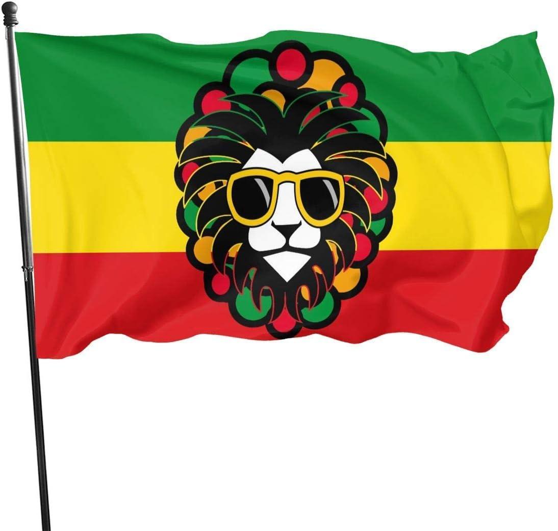 huatongxin Flag 3 X 5 Ft Jamaica Rasta Lion Decorazione Domestica Resistente Poliestere per Esterno//Interno//Giardino