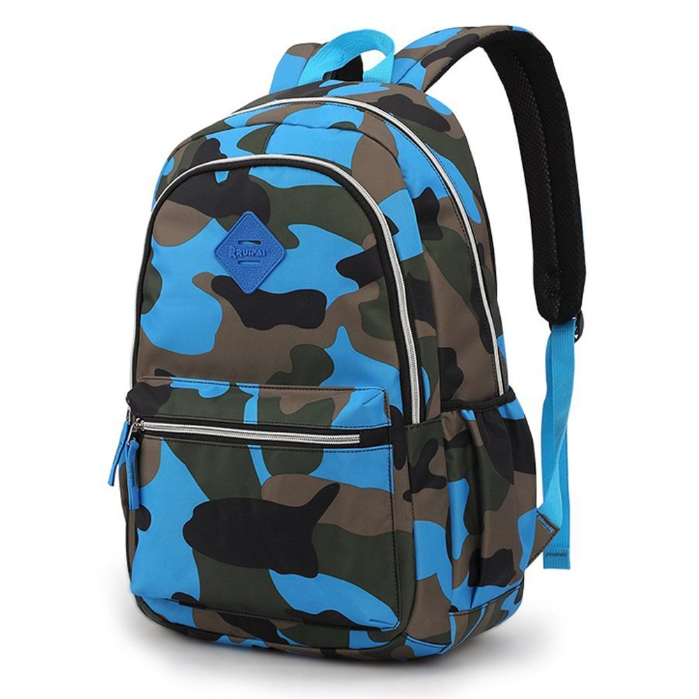 5f9a2e26ca9 FEWOFJ Camo Kid Backpack for Primary School, Military Tactical Style Teen Boy  Girl Elementary School Bag Travel Casual Daypack Camping Climbing Hiking ...