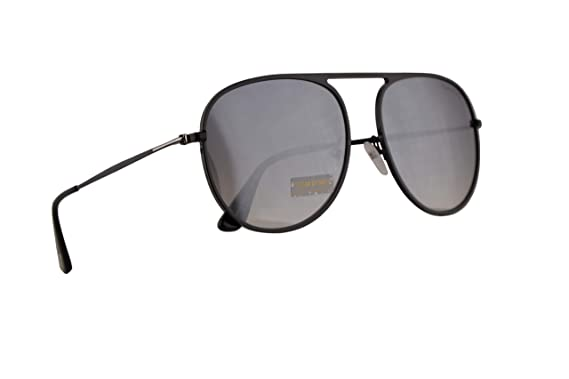 b1891a51431 Image Unavailable. Image not available for. Color  Tom Ford FT0621 Jason-02  Sunglasses Shiny Black w Smoke Mirror 59mm Lens 01C