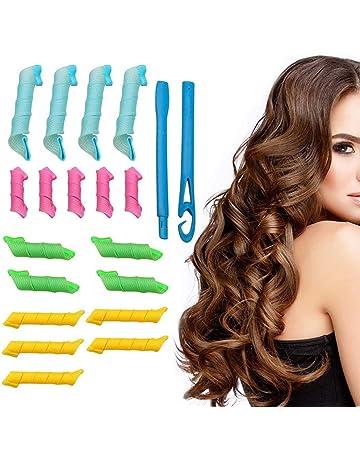 18 STK Hair Curlers Keine Wärme Lockenwickler und 2 Styling-Haken  Lockenwickler Bunte Gelockt Werkzeuge 815549b76e01
