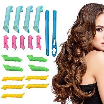 18pcs Flexible Rizadores de Pelo de Espuma,Rodillos Para El cabello Herramientas de Estilismo DIY,Adecuado para cabello largo y corto.: Amazon.es: Belleza