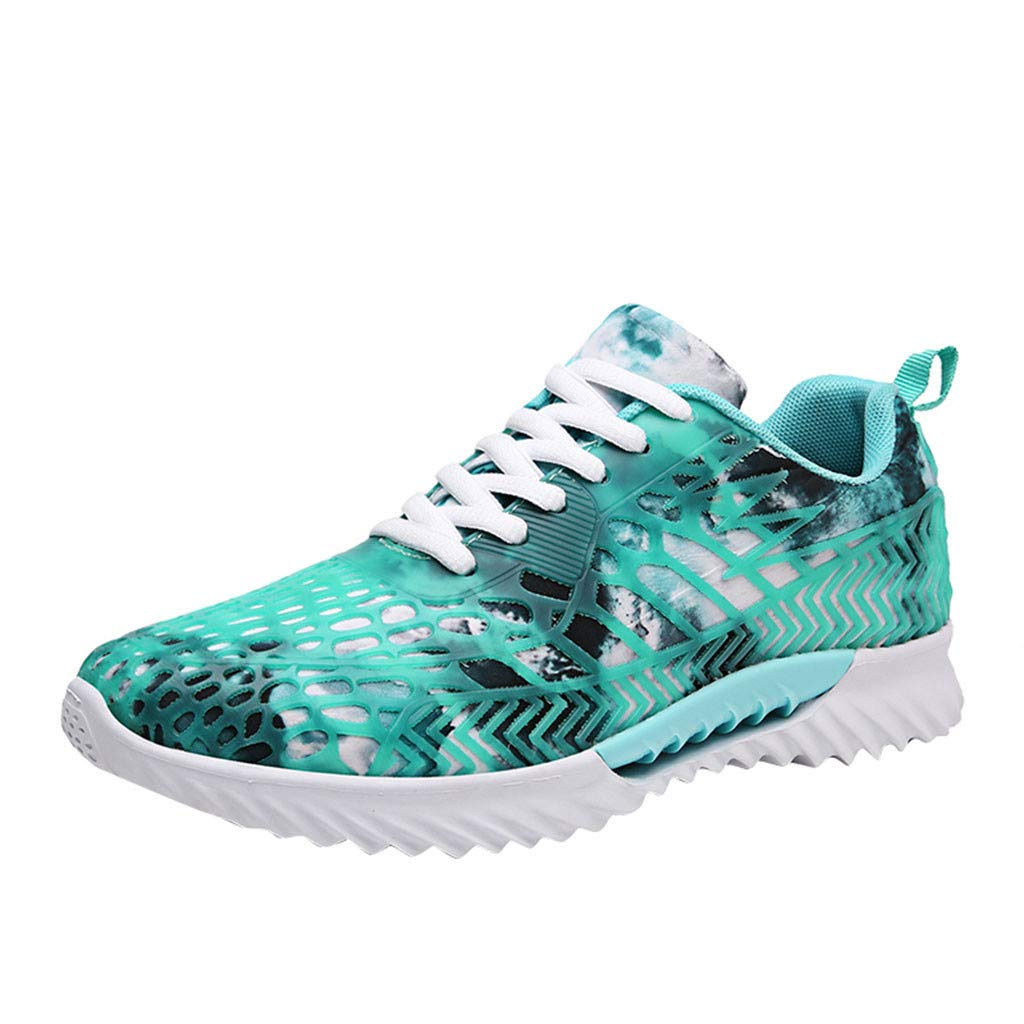 Women Sneakers Mesh Low-Top Athletic Sport Non-Slip Walking Lace-Up Running Shoes ... (US:6.5, Blue)