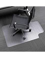 """Moustache® Chair Mat for Carpets, Transparent Carpet Protector, Office Chair Mat with Lip Anti-Slip Spiked for Hard Surface Floors - 30"""" x 48"""""""