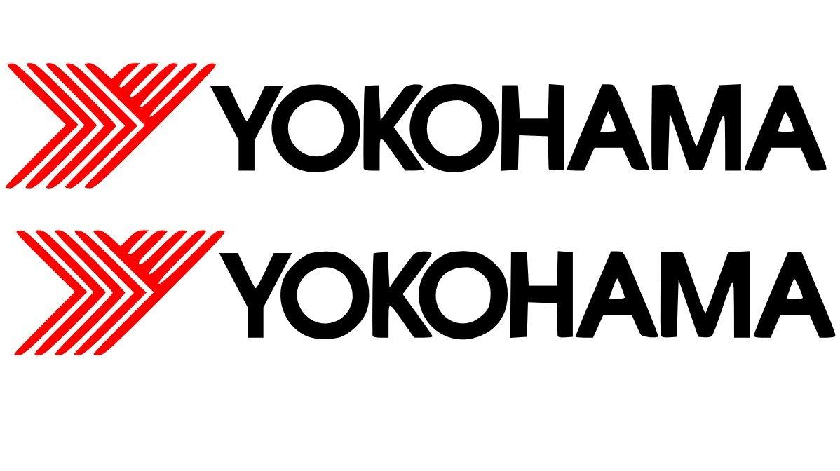 Yokohama Stickers-2 x pneumatici performance-Pneumatici vinilico advan 150 mm