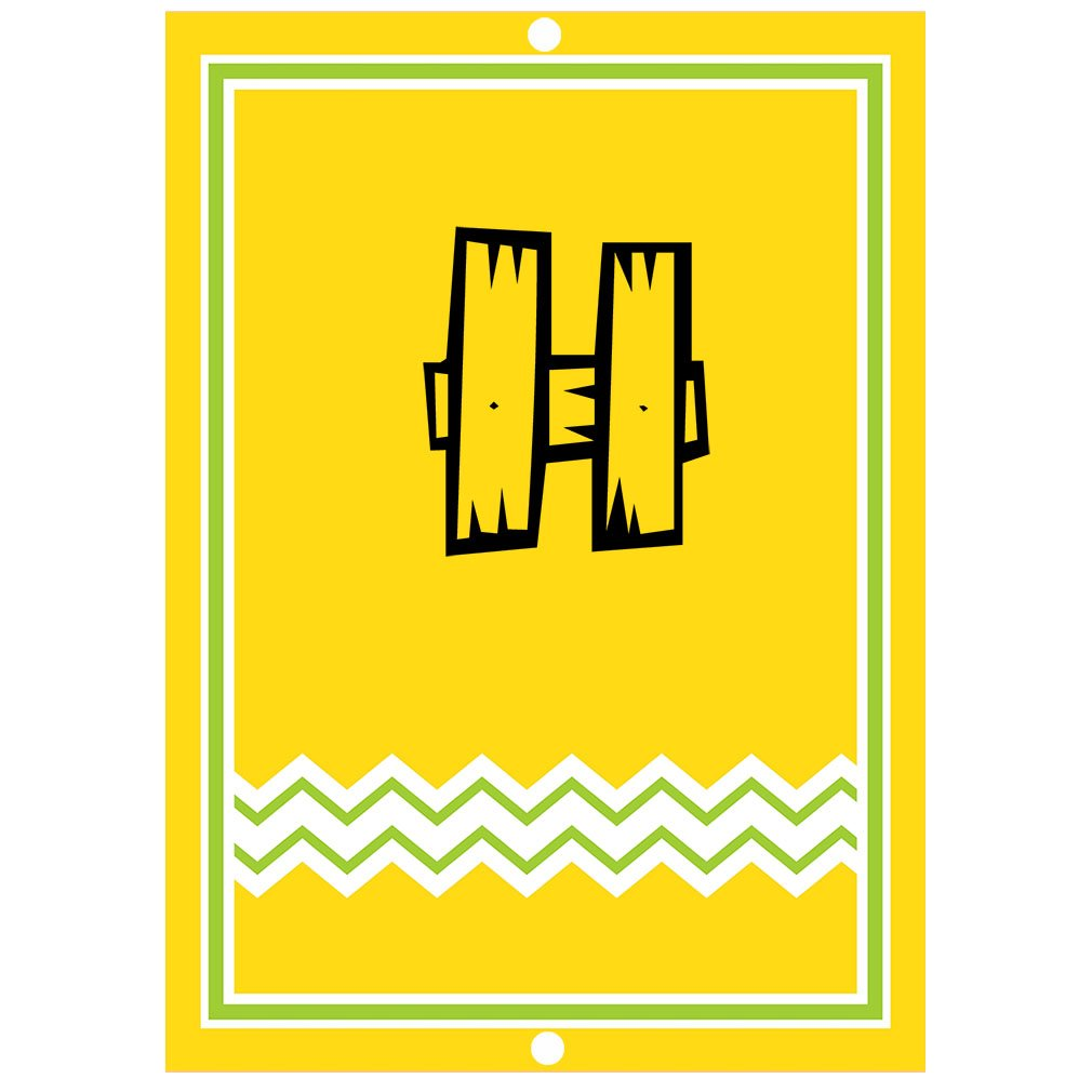 ''H '' Wood Initial Monogram Personalized Letter H Blue Room Nursery Décor METAL Sign Yellow
