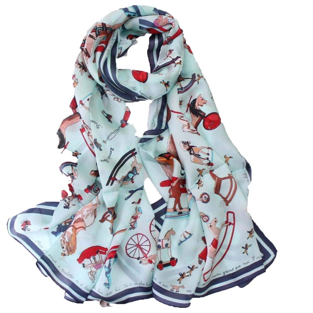 Weiwei Ladies Silk Shawl Silk Scarf Send Friends and Family Lightweight and Breathable 180CM65CM