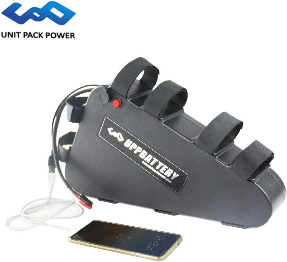 uppcycle E-Bici Batería de Litio, 48V 20AH Triángulo Batería + 3A Cargador + Puerto USB + Estuche Impermeable, Ajuste Motor 1000W (48V 20AH-Chinese Cells): Amazon.es: Deportes y aire libre
