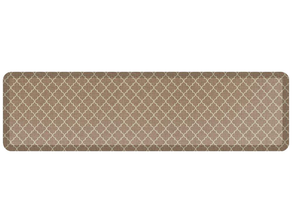 Lattice Tan 20  x 72  NewLife by GelPro Designer Comfort Mat, 20 by 72-Inch, Lattice Mineral Grey