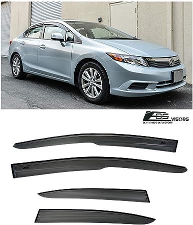 VXMOTOR 2012-2015 Honda Civic Sedan Mugen II Style Window Visors Rain Guard Defector 4DR 2012 2013 2014 2015