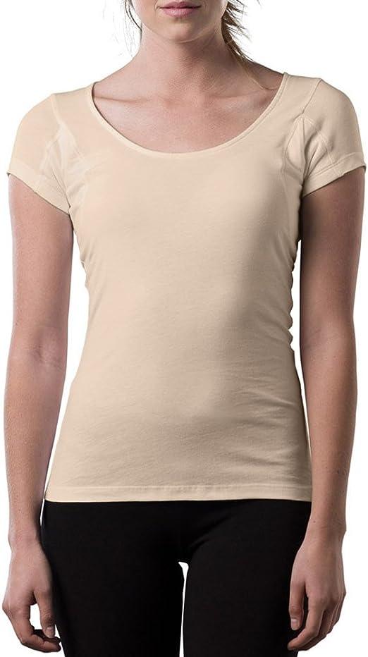 Thompson Tee - Camiseta interior antisudor para mujer - Con refuerzo antimicrobiano en las axilas - Corte regular - Cuello ovalado: Amazon.es: Ropa y accesorios