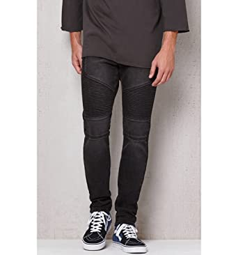Pacsun Mens Stacked Skinny Moto Black Stretch Jeans at Amazon Men s ... aa83106db