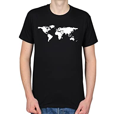 World map geography atlas continents design t shirt amazon world map geography atlas continents design t shirt black small gumiabroncs Images