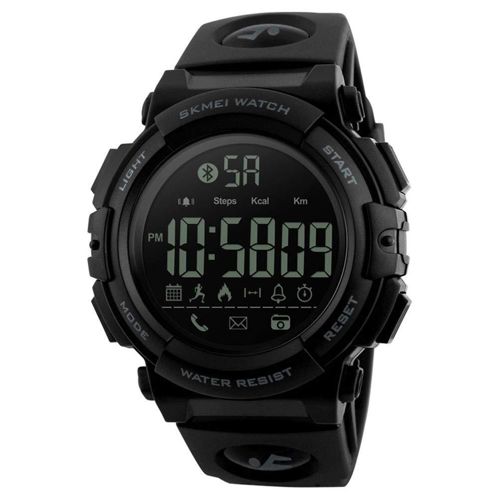 LJS-BQ Reloj Deportivo Inteligente, Reloj Electrónico Paso A Paso App Reloj De Moda Masculino Estudiante,Black: Amazon.es: Deportes y aire libre