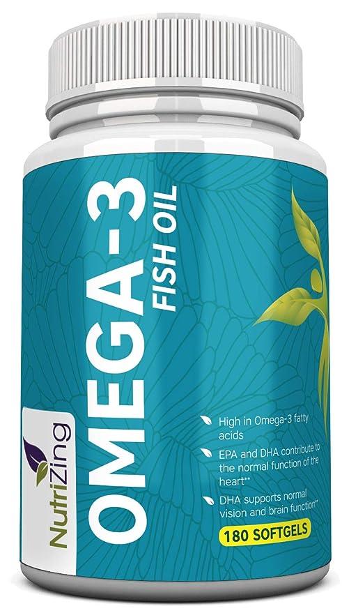 NutriZing Suplemento de Omega-3~2000mg, 660 EPA 440 DHA por Porción ~