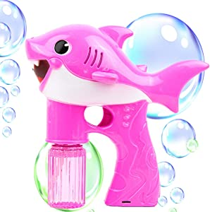 Toysery Bubble Gun Blower for Kids, Non-Toxic Leak-Resistant Easy Refill Dolphin Bubble Blaster Toy with Soap Solution, Bubble in Minutes, Perfect for Toddlers Boys, Girls, and Outdoor Activity