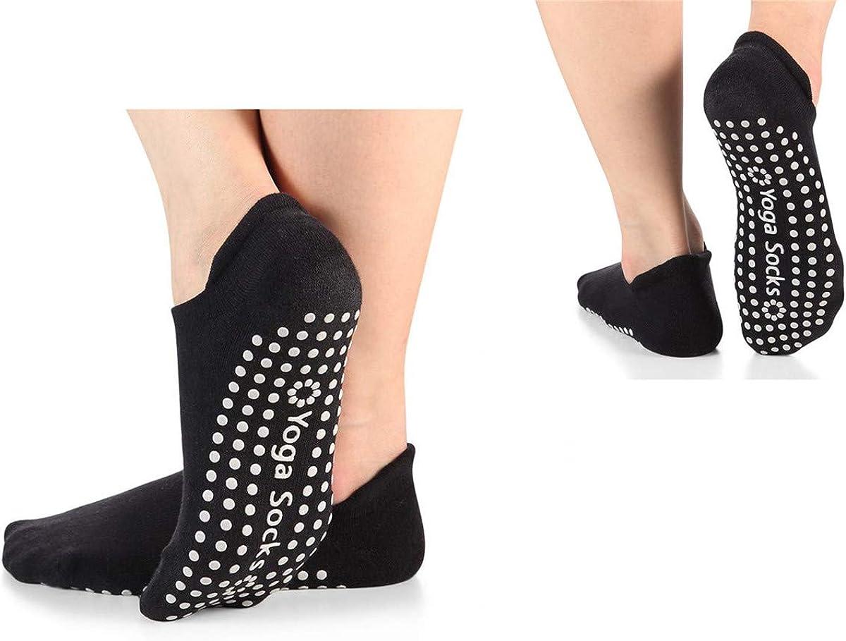 Yoga Socks Ballet Sports Gym Non-Slip Cotton Pilates Exercise Grips For Women UK