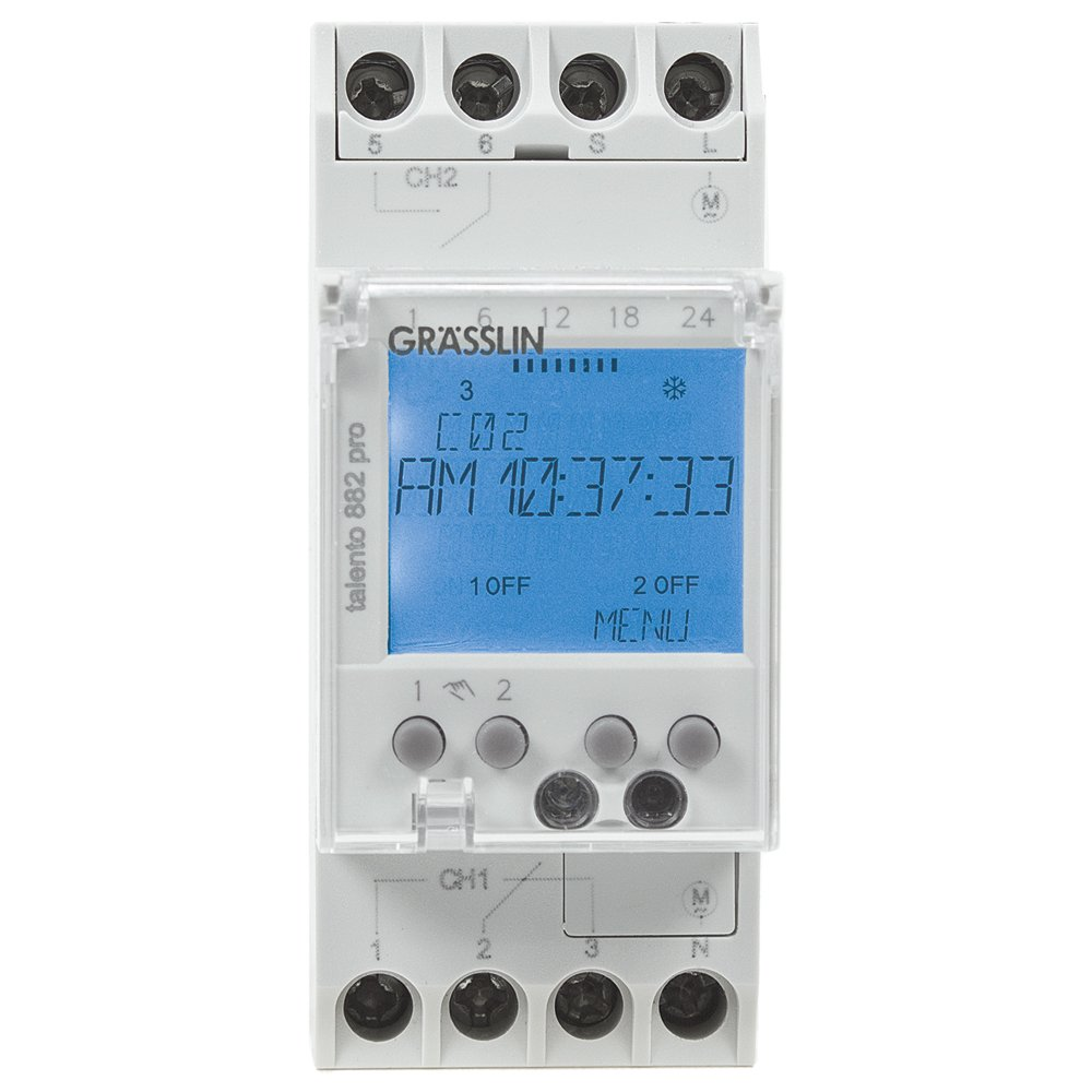Intermatic Talento 882 Digital DIN Rail Mount 365-Day Time Switch with Intelligent Scheduling