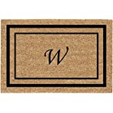 "Personalized Monogram Classic Border Coco Coir Door Mats - W - 22"" X 36"""