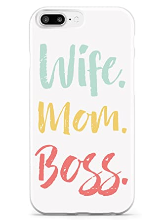 Amazon.com: Inspirado casos esposa. Mamá. BOSS. Funda ...