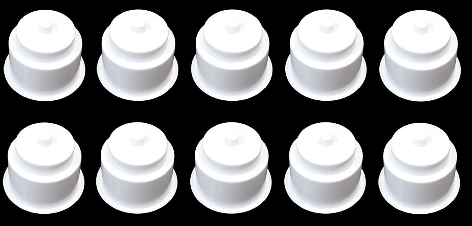 1 JSP Manufacturing 3 5//8 Universal White Recessed Drop in Plastic Cup Drink Can Holder with Drain Hole for Furntiture Sofa Poker Table Car Boat Marine Rv