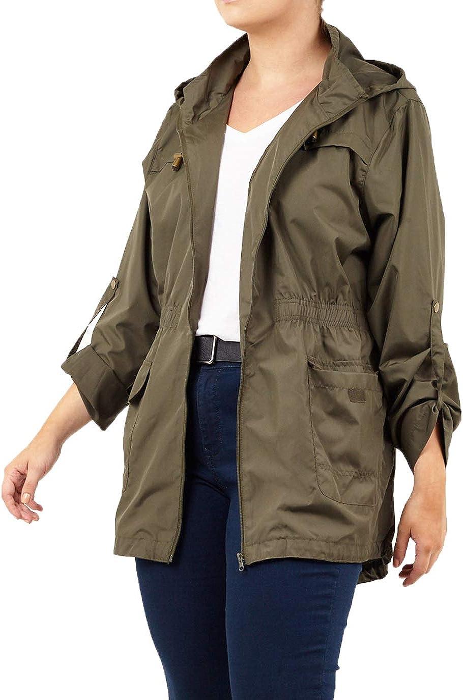Kids Waterproof Jacket Girl Polka Detachable Hood MAC Plain Lightweight Raincoat