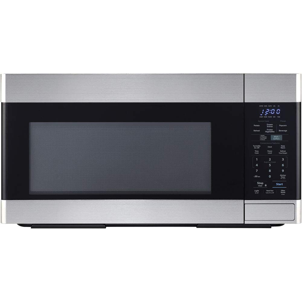 Sharp 1.8 CF 1100W Over-The-Range Microwave Oven in Stainless Steel