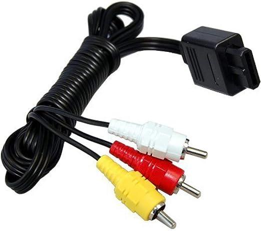 HQRP Cable Audio Vídeo AV para Nintendo 64 System N64 / Super NES/Game Cube TV Consola de Videojuego, Conector múltiple a RCA