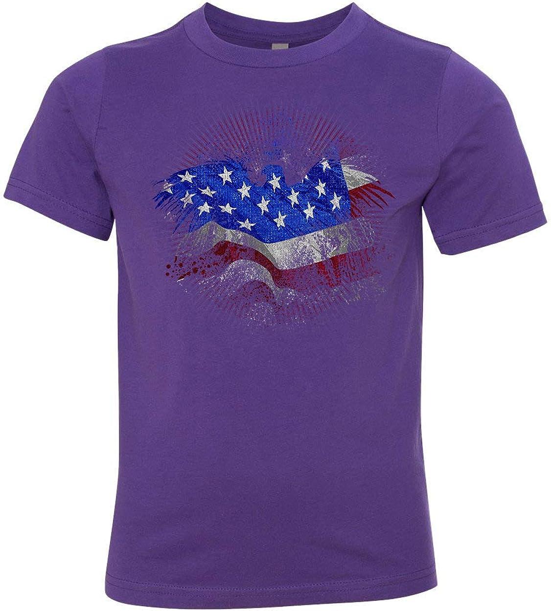 Patrioctic American Eagle Flag USA Girls Boys Short Sleeve