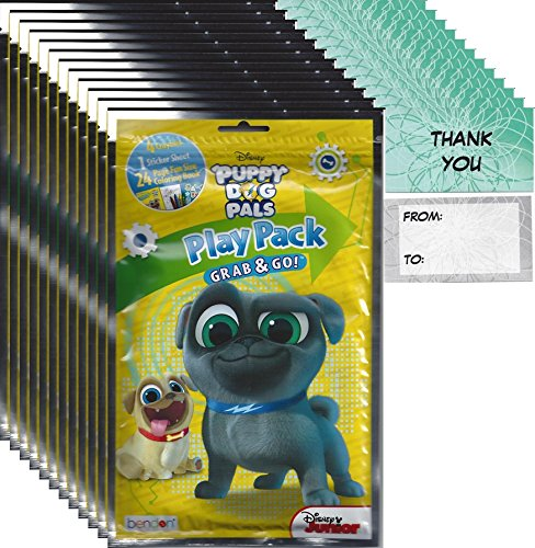 Bendon Publishing Disney Junior Puppy Dog Pals Party Favors (12 Play Packs and 12