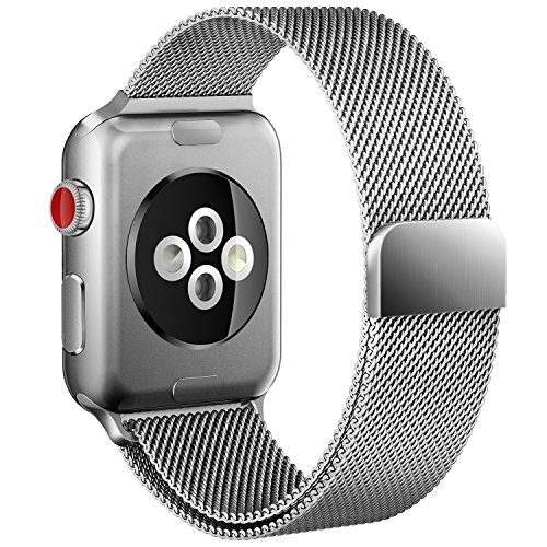 Apple Watch Band 42mm Milanese Loop for iWatch Series 3 2 1 Silver Color
