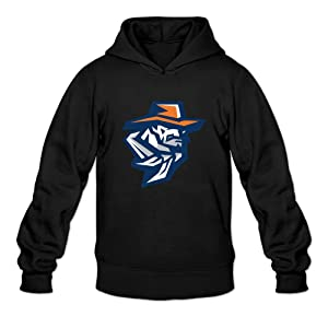 EVALY Men's Awesome University Of UTEP Miners Pullover Sweatshirt Black XX-Large
