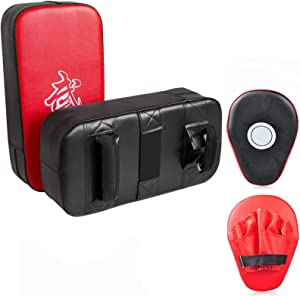 Cyfie Boxing Kick Pads Target Kick Pad Hand Pads Thai Pads Karate Kick Pads Kickboxing Training Pads Martial Arts MMA Punching Mitts Kicking Boxing Shield Training for Men Women Gym