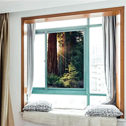 Yoliyana Moderne Glas Fensterfolie Kein Kleber Sichtschutz