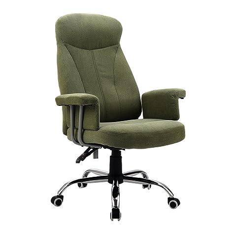 giantex high back reclining office chair padded executive computer desk task recliner