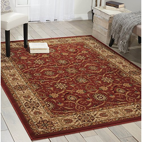 (Nourison Persian Crown (PC001) Brick Rectangle Area Rug, 5-Feet 3-Inches by 7-Feet 4-Inches (5'3