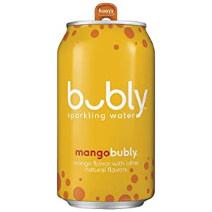 bubly Sparkling Water, Mango, 12 fl oz. Cans (18 Pack)