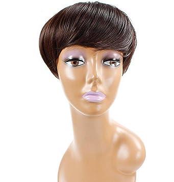 AN-LKYIQI Europa y lo Estados Unidos peluca pelo corto mujeres negras Natural fibra química