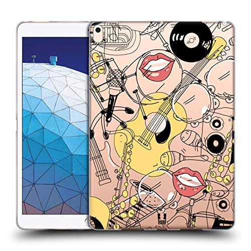 Head Case Designs Musician Doodle Professions Soft Gel Case Compatible for iPad Air (2019)