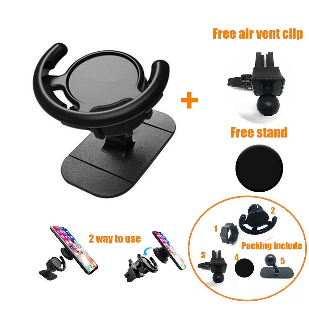 360 ° Rotation Car Mount for Pop Stand Socket QQDS Air Vent Phone Car Mount Vent Holder for POP Stand Car Clip Car Phone Holder with pop Phone Stand Fit for iPhone X/8/8plus/7/7plus Ipad (1set) wefit