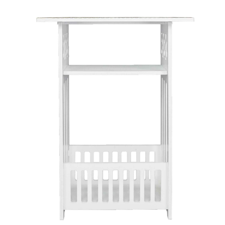 Boxlike9 Shop Table Coffee Wood Plastic Board 3 Storey Locker Bedside Cabinet Tea Tables White by Boxlike9 Shop