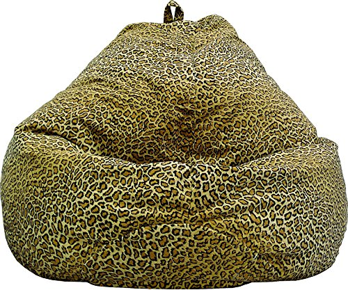 Gold Medal Bean Bags 30011268813TD Large Fuzze Suede Tear Drop Bean Bag, Cheetah Print (Print Bean Bag Cheetah)