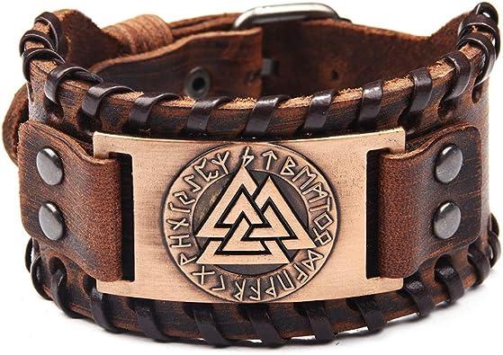 bracelet cuir homme viking