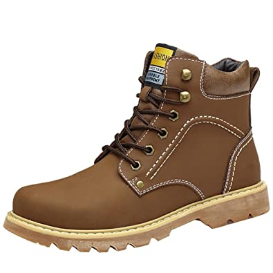 Men 's Retro Winter Leather Keep Warm Straps High Top Martin Boots
