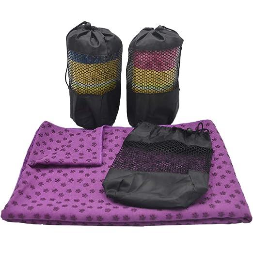 LIOOBO Toalla Suave Antideslizante Yoga Mat Toalla Deporte ...
