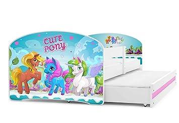 Cuna para bebé, Luki doble 160 x 80, cama con el segundo cama extraíble, dormitorio para ...