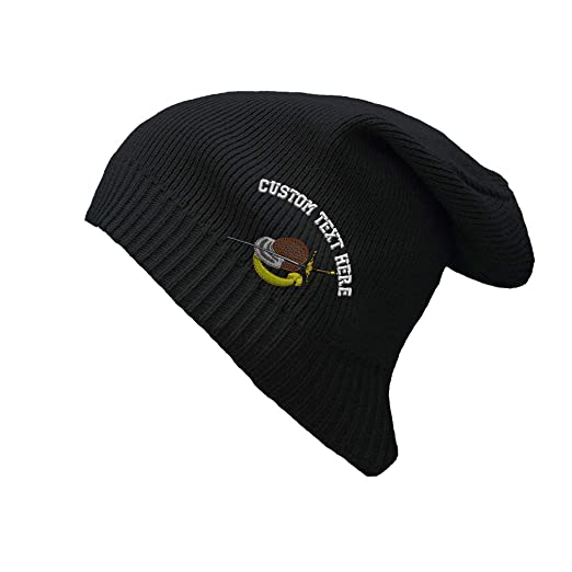 8c2e7824c01 Custom Text Embroidered Sport Fencing Gear 1 Logo Embroidery Unisex Adult  Organic Cotton Slouch Beanie Skully